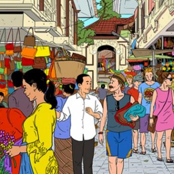 Presiden di Pasar Bali